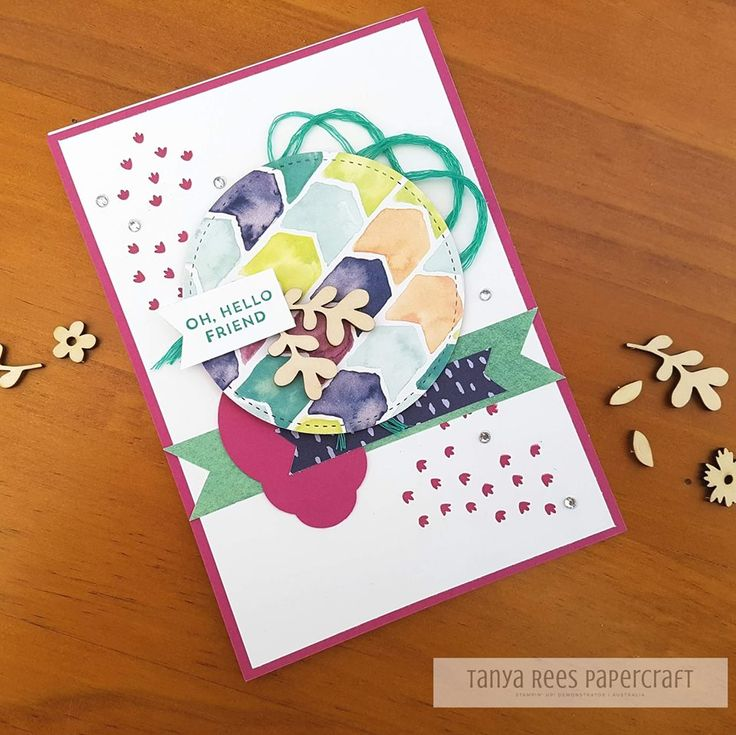 Tanya Rees Papercraft -Stampin' Up!  Naturally Eclectic DSP and Pretty Label punch