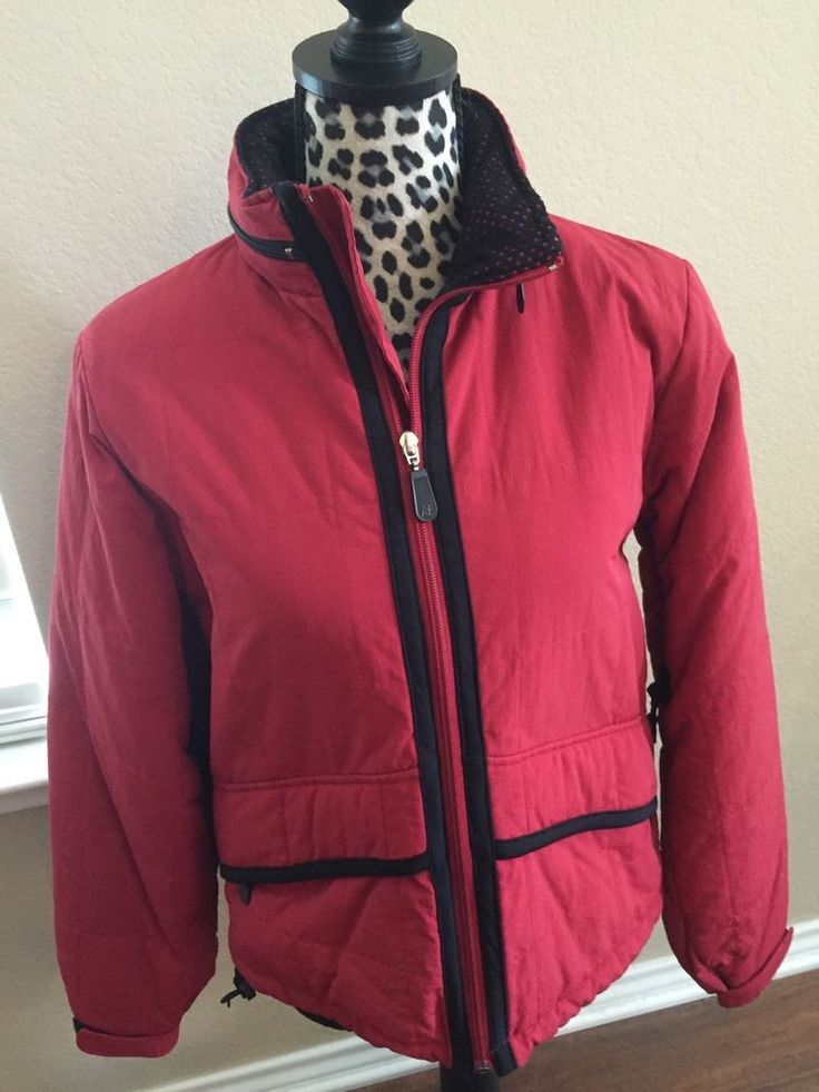 Ski Jacket Size Small Red Black With Hood American Eagle Outfitters Outdoor Coat #AmericanEagleOutfitters #SkiJacket