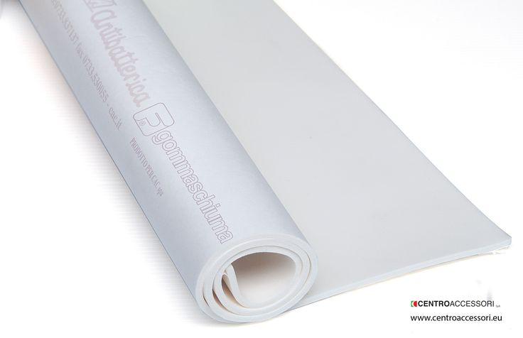 "Gommaschiuma ""Sanitized"" (Bianco). Antibacterial latex foam rubber (White). #CentroAccessori"