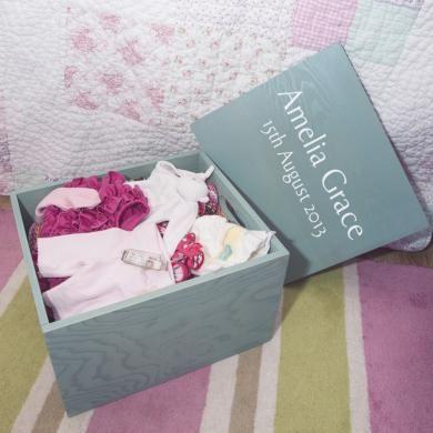 Personalized Wooden Baby Keepsake Box