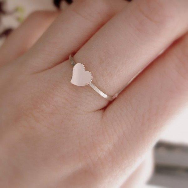 Pierścionek - serce z różowego złota pr. 0,585 www.bizoe.pl