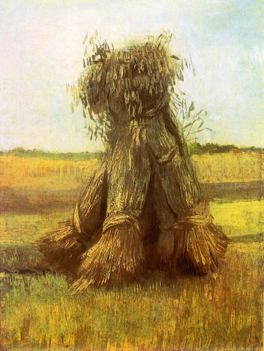 Sheaves of Wheat in a Field -  Vincent van Gogh  1885  Kröller Müller Museum , Otterlo,The Netherlands