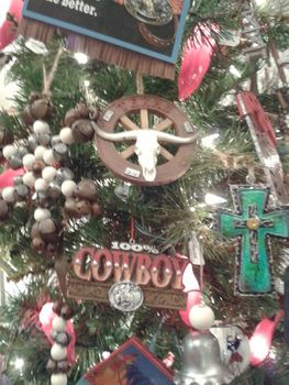 Western Christmas Decor Ideas, Ornaments With Cowboy, Cowgirl And Rodeo  Themes. Country Christmas, Rustic Ornaments, Stocking And Ideas For  Decorating.