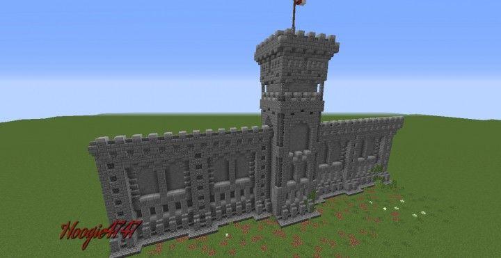 Wall Tower Design Minecraft Map