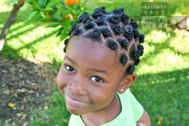 Completed Threaded Mini Bantu Knots | Chocolate Hair / Vanilla Care #NaturalHair