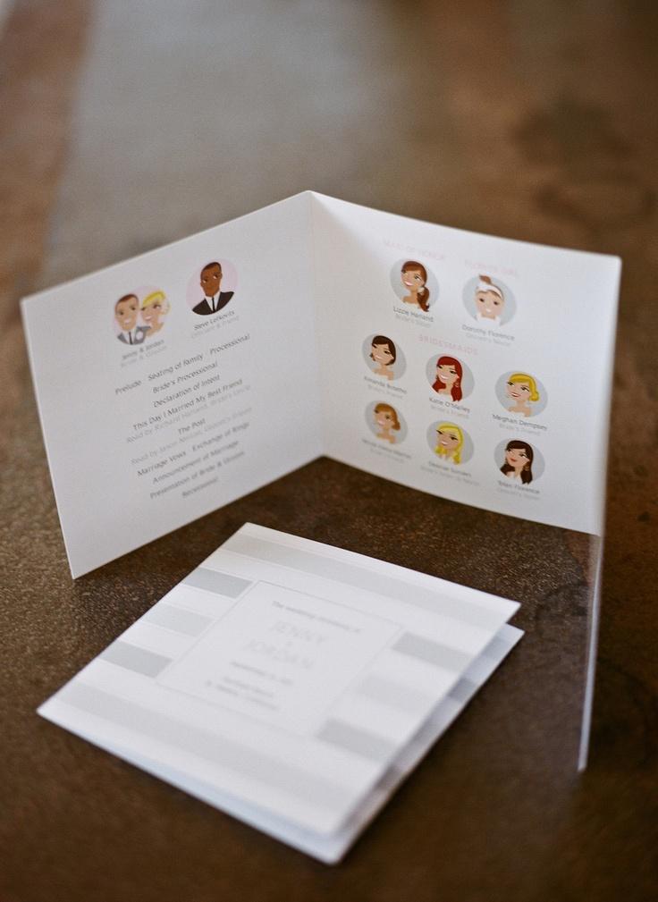 Custom Wedding Ceremony Programs by PosePrints