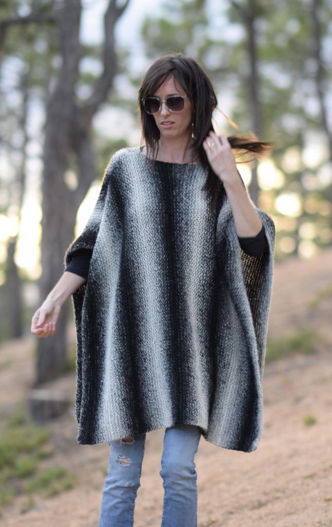 Beginner Knitting Poncho : Best pretty knitting patterns images on pinterest