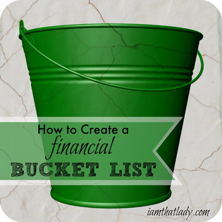 How to use a Financial Bucket List to help you get out of debt and get on the same page with your spouse.