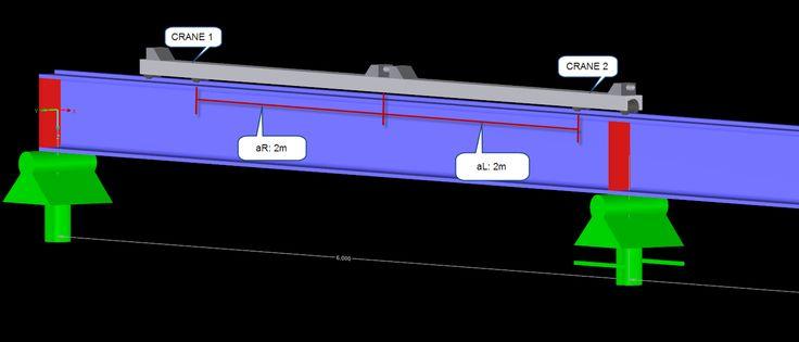 Dlubal CRANEWAY 8 - Consideration of the Minimum Distance Between Two Cranes   https://www.dlubal.com/en   #bim #cad #dlubal #dynamics #eurocode #engineering #engineeringsoftware #fea #fem #rfem #rstab #structuralanalysis