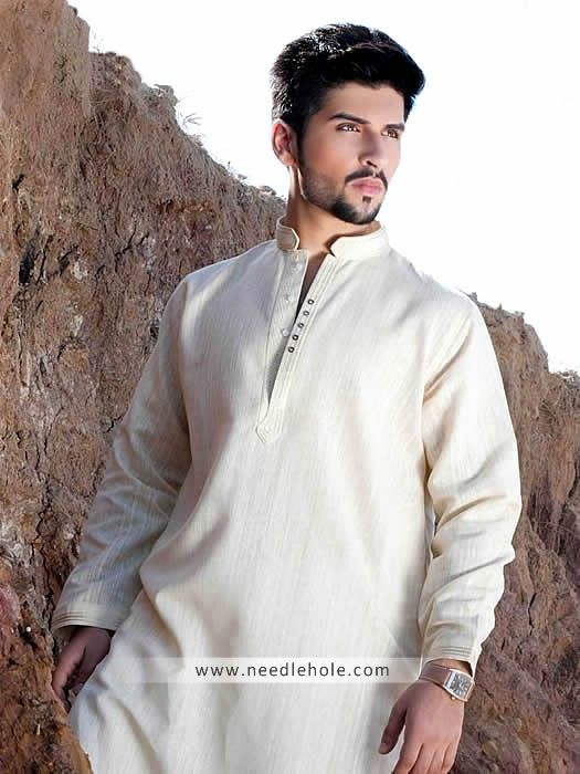 White Kurta Shalwar for Men