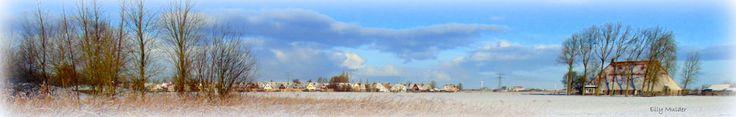 #fotografie #natuur #winter #sneeuw #zon #wolken #lucht #landschap #Bolsward #Friesland