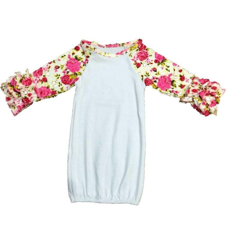 Ruffle Baby Sleeper Gowns