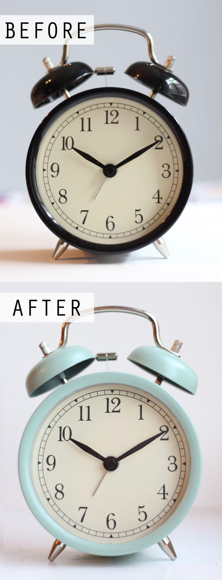 DIY Painted IKEA DEKAD Alarm Clock