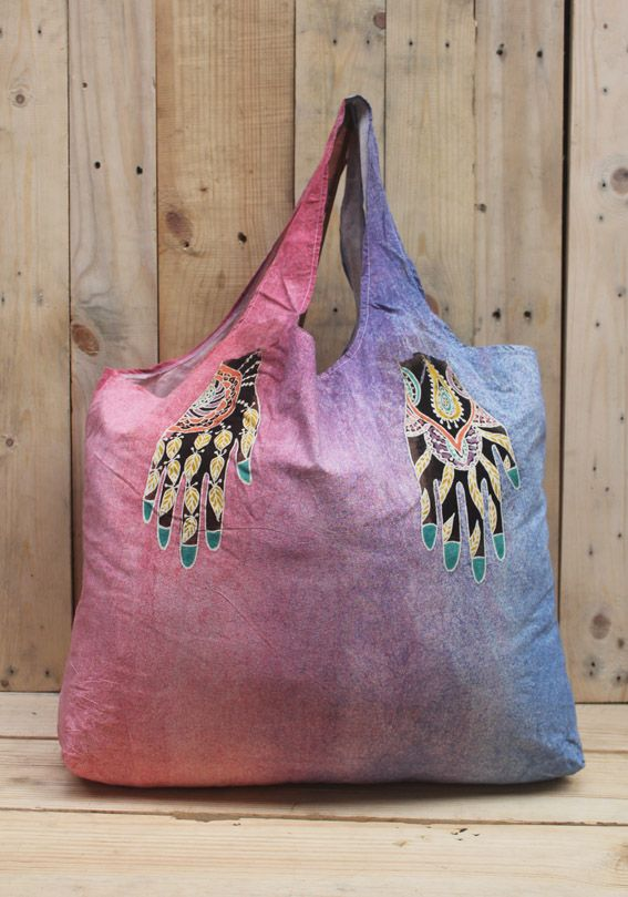 batik painting Reusable shopping bag/eco bag, foldable