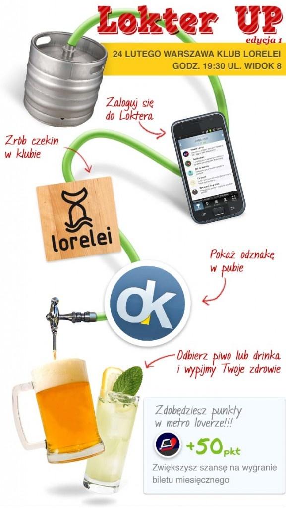 24 lutego pijemy piwo i drinki na koszt Loktera!!!