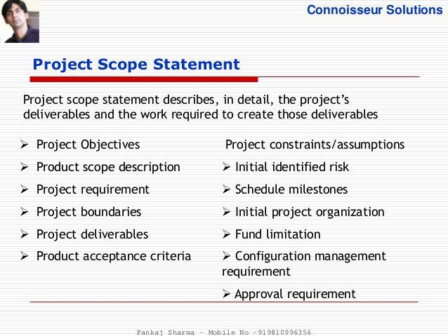 Project Scope Statement Example Pdf Inspirational Project Scope Management Process Adjective Words Business Plan Template Free Business Plan Template