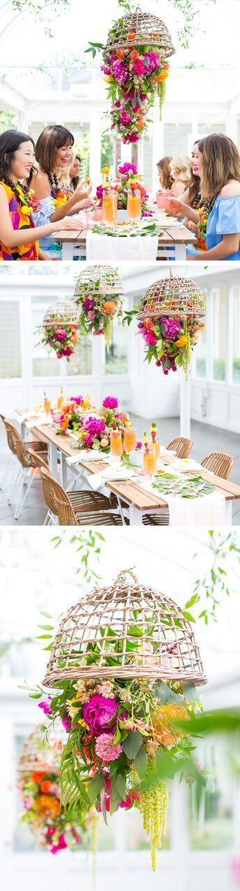 Tropical Garden Party and DIY Fruit Necklaces - Sugar & Cloth