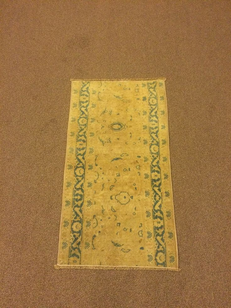 1.9x3.2 Feet Turquoise And Beige Doormat Door Mat Welcome Mat Beige Vintage Carpet Beige Rug Handmade Carpet Handmade Rug Carpet In Handmade Code:V578. It is %100 handmade carpet runner.All colours are natural dyed. Size:1.9x3.2 feet 52x96 cm Material:wool on cotton Code:V578 Fast Worldwide Shipment in 1-3 business days after the order and it may take an additional 3-5 days for delivery. All items are shipped by Fedex and Ups.Please note that light effect, monitor's brightness, contrast…