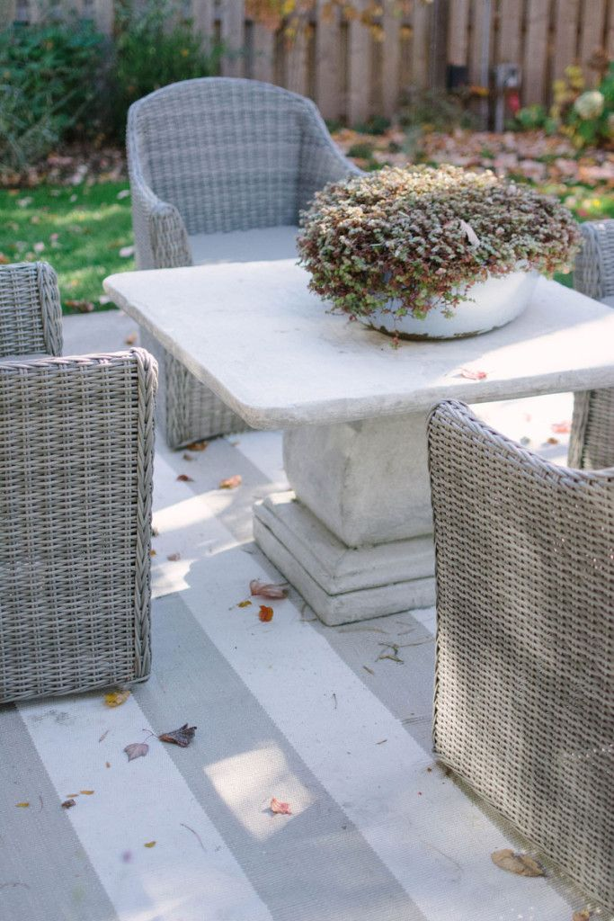 Neutral Home Decor: A Beautiful Example | Concrete table