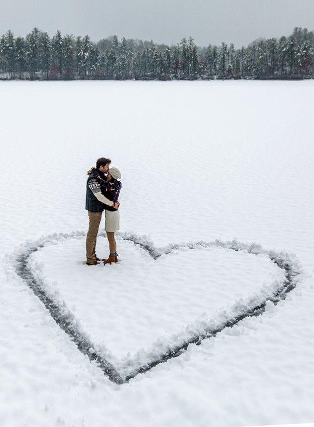 Snow engagement ideas