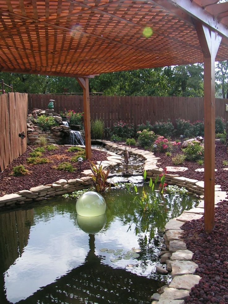 Best 25 pond covers ideas on pinterest fish pond for Pond shade ideas