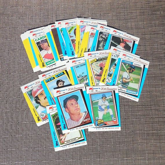 1982 Box Of Topps Baseball Cards American And National