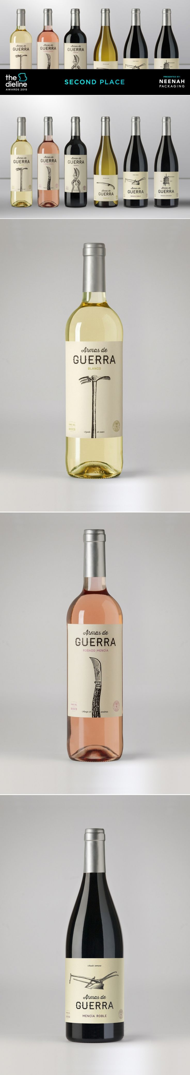 The Dieline Awards 2015: 2nd Place Wine, Champagne: Armas de Guerra — The Dieline | Packaging & Branding Design & Innovation News