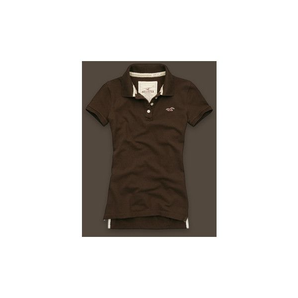 Point Vicente (45 BRL) ❤ liked on Polyvore featuring tops, polos, hollister, shirts, women, polo shirts, cotton polo shirts, classic fit polo shirts, embroidery shirts and embroidered top