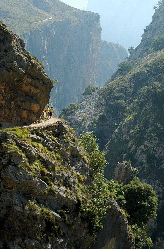 La garganta del Cares , Asturias Spain--(I'm certain that THIS IS THE ROAD!!!--never again-L)