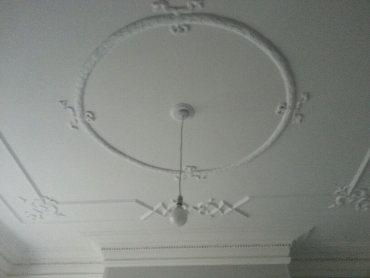 Ceiling painted in All White