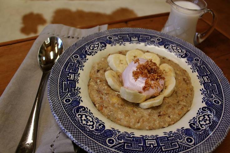 Banana and Toasted Coconut porridge