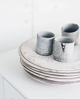 Hand thrown ceramics.