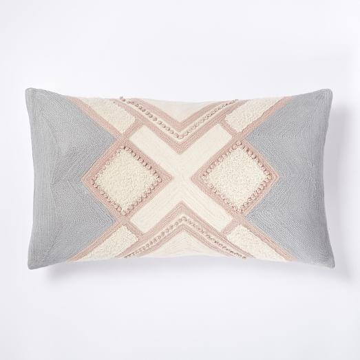 Crewel Crisscross Linework Pillow Cover - Rosette west elm living room Pinterest Pillows ...