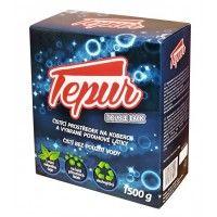 Tepur - balení 1500 g Tepur je  vysoce ekologický čisticí prostředek určený k suchému čištění koberců a vybraných potahových látek. Je vyroben na bázi přírodních látek, viditelně absorbuje špínu. http://www.drogistika.cz/d/tepur-na-koberce-1500-g-1000944/