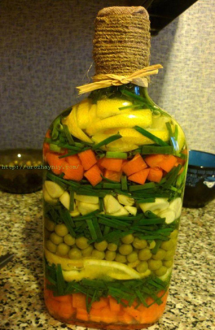 Бутылка с овощам | Урожайная дача, интернет журнал, все о даче