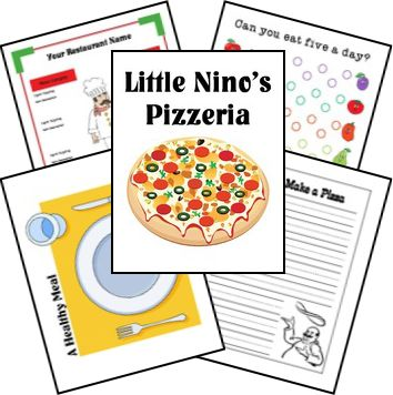 Little Nino's Pizzeria: Pizza theme learning for your homeschool or classroom. Free lapbook printables from Homeschool Share