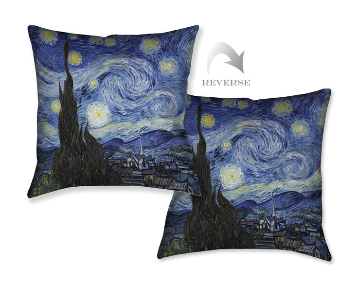 Vincent Van Gogh's Starry Night Decorative Pillow