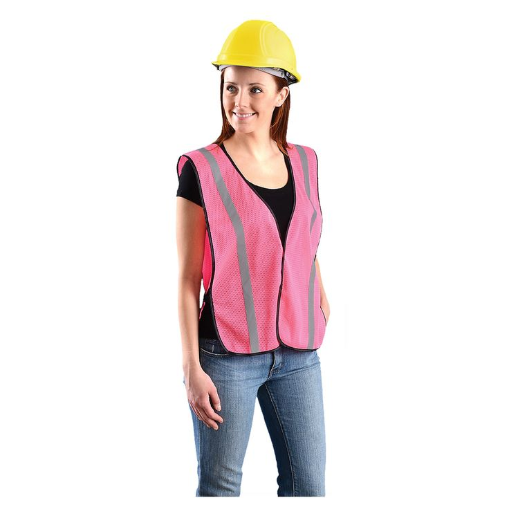 Value High Vis Pink Vest - LUX-XSBML-P
