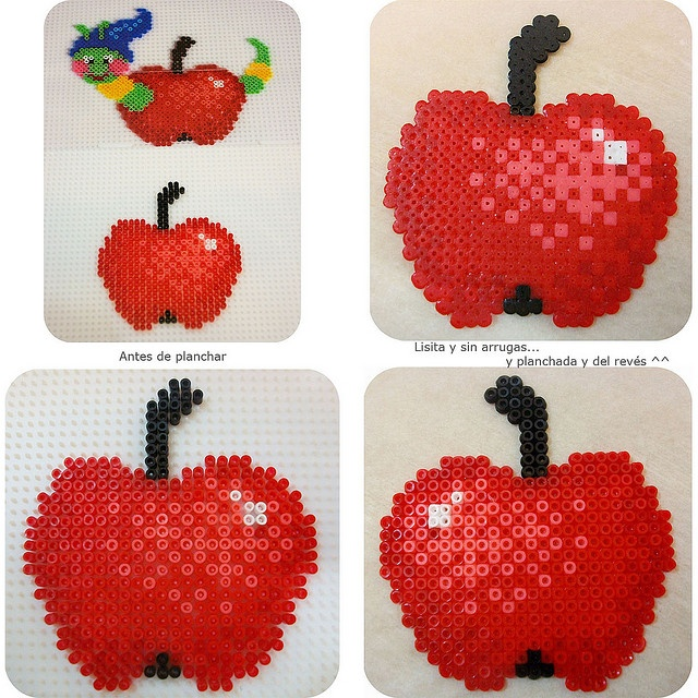 Apple hama beads
