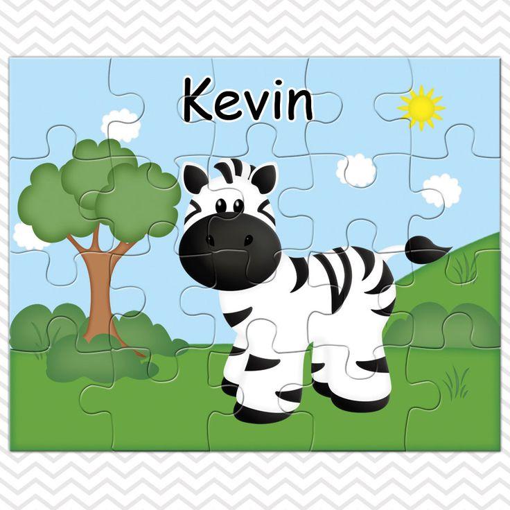 Zebra Personalized Puzzle, Personalized  Zebra Puzzle, Personalized Kids Puzzle by sharenmoments on Etsy