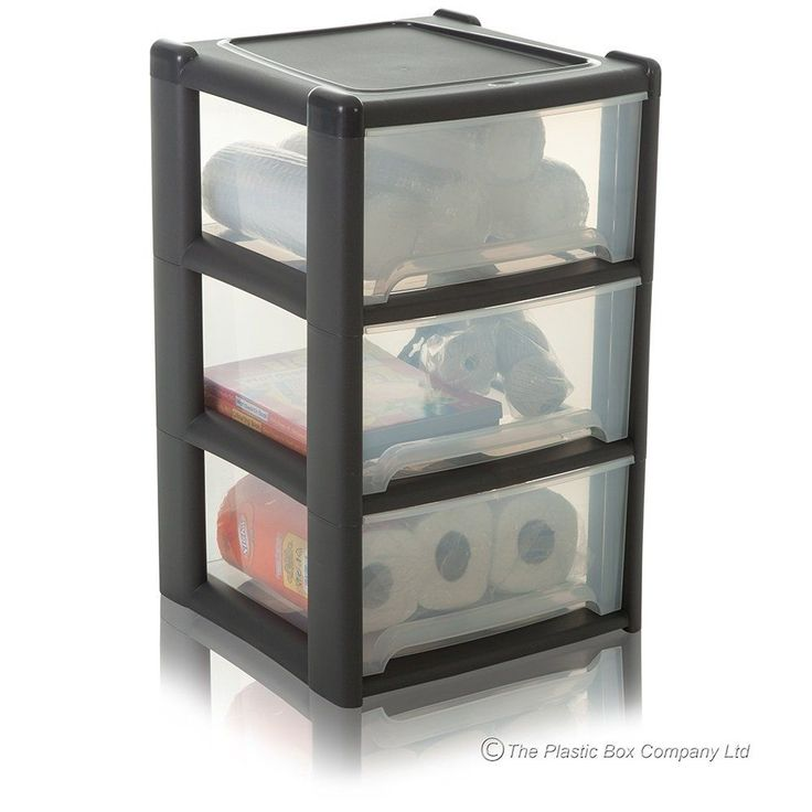 3 Drawer/Tower Deep Grey A4 Plastic Storage Unit For Office /Bedroom /Home/Study in   eBay
