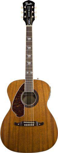 Fender Tim Armstrong Hellcat Left Handed Acoustic Guitar, Natural