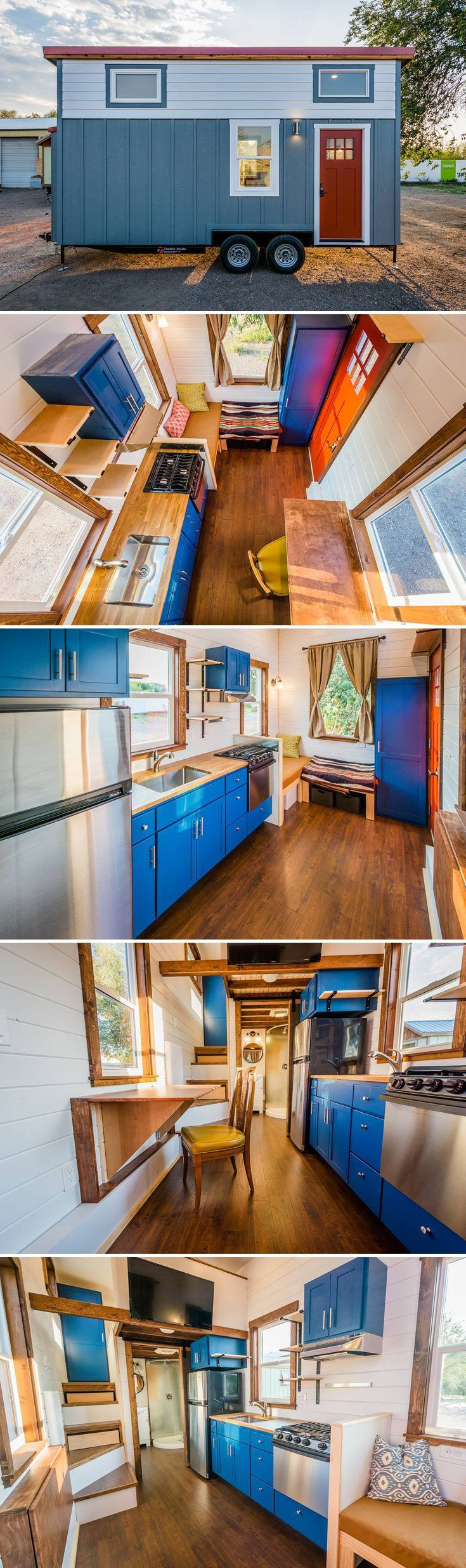 Built with a priority on storage space, this home by Mitchcraft Tiny Homes packs everything their client needs into a 20-foot tiny house on wheels.
