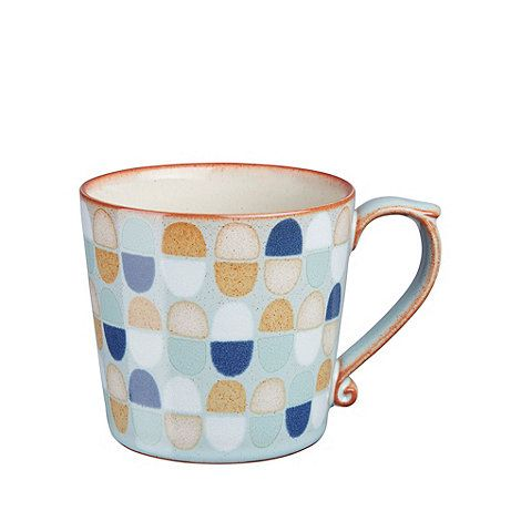 This large stoneware mug from 'Heritage Pavilion Accents' by Denby has a country heritage inspired multicoloured oval design.