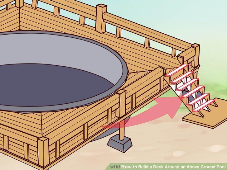 Build a deck around above ground pool