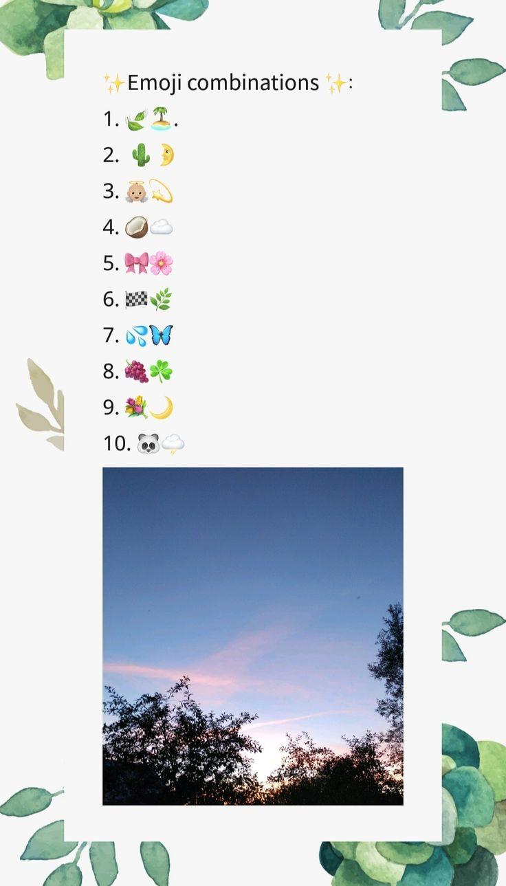 Emoji Combinations A E S T H E T I C Emodzi Instagram Nadpisi