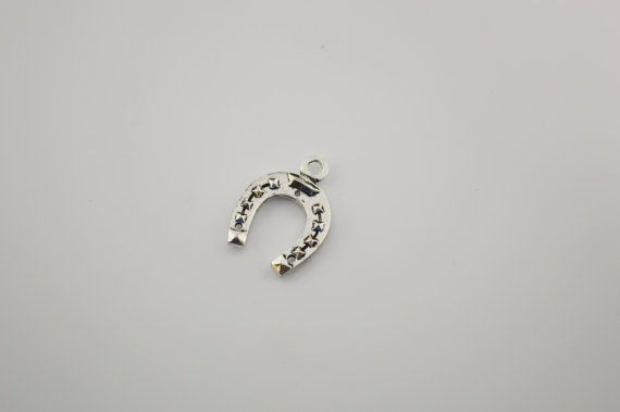 10 pcs Horseshoes charm by charmsandmetal on Etsy