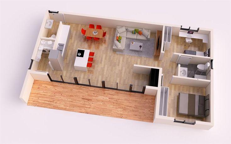 FUERTEVENTURA DONACASA 97 m2 , Hormigón celular con trasdosado tejado plano
