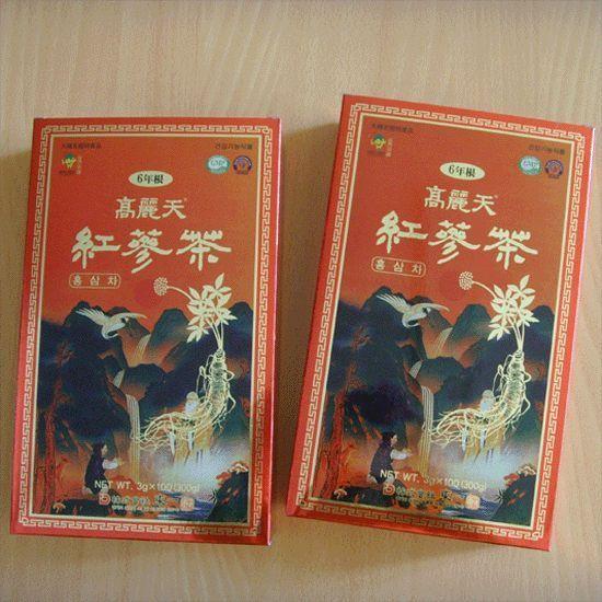 KOREAN HEAVEN RED GINSENG TEA [3g*100Bags*2Boxs] / Health  functional  food  ! #KOREANHEAVENREDGINSE
