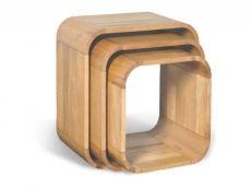 Lounge Light Oak Set of 3 Cubes